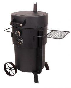 Oklahoma Joe's Bronco-Pro 48-in H x 40-in W 528-sq in Heavy-Gauge Black Steel Charcoal Vertical Smoker