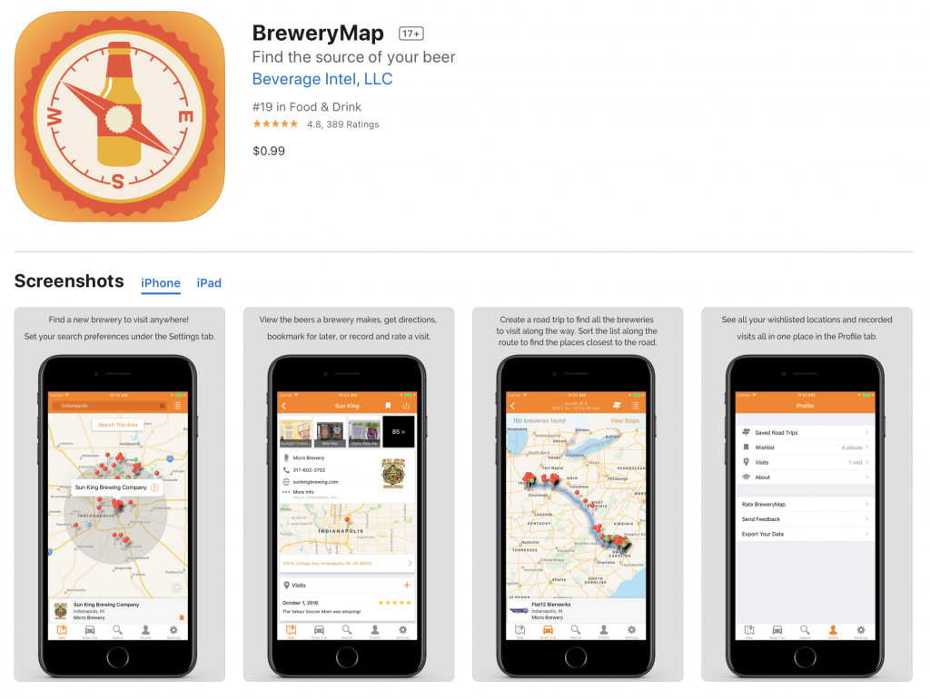 brewery map app