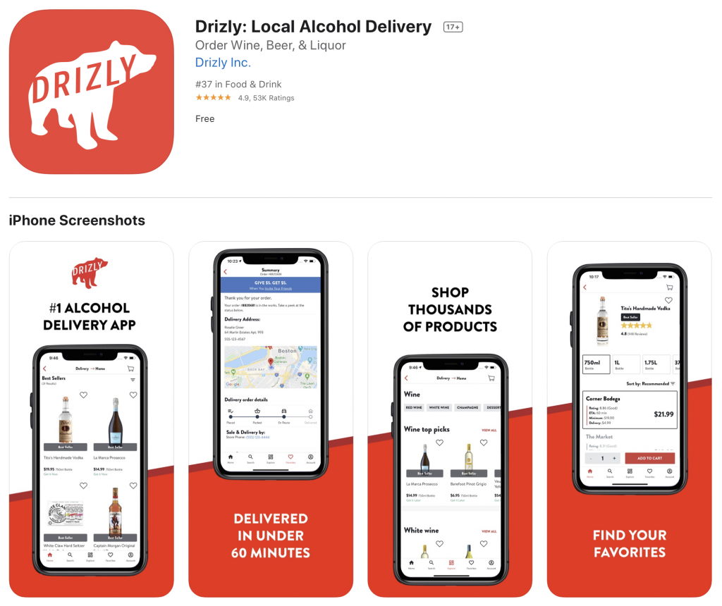 Drizly beer app