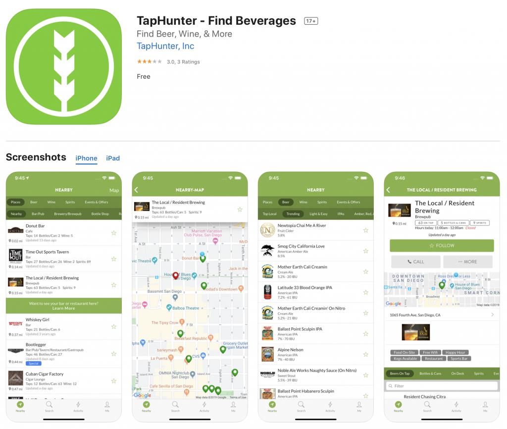 tap hunter app