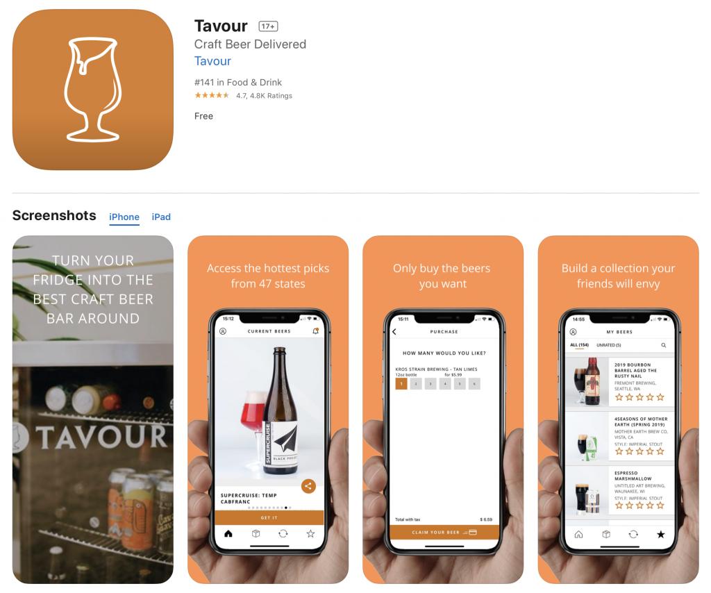 tavour beer app