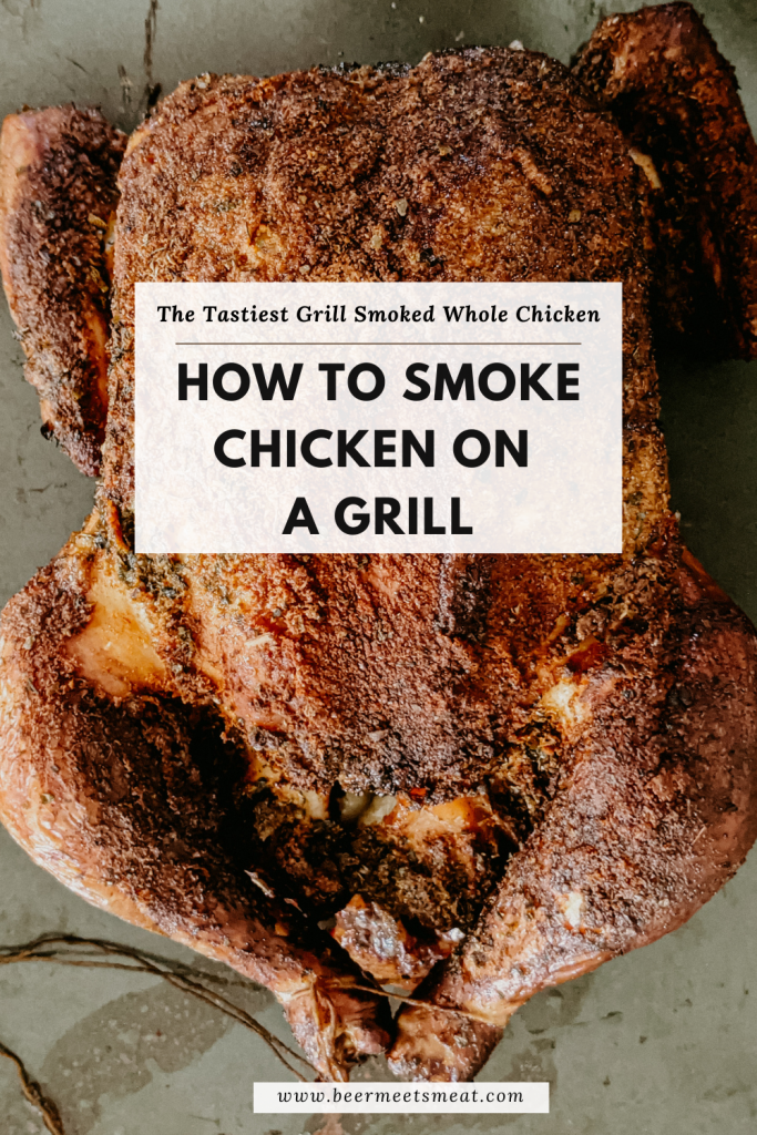 smoke chicken on a grill